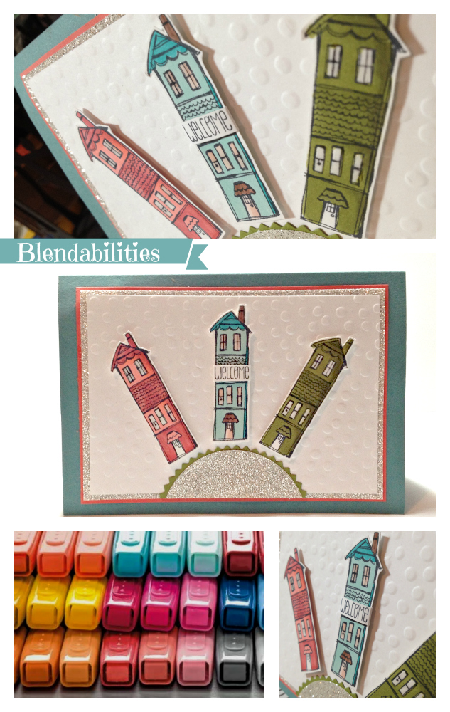 Blendabilities Welcome Card - EurekaStampers Blog Hop