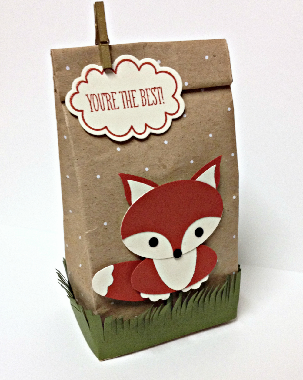 Foxy Polk-a-Dot Tag a Bag Gift Bags - EurekaStampers Blog Hop