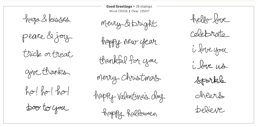 Good Greetings by Stampin' Up!. Free with a AUD$300 Stampin' Up! order, in addition to the usual host benefits