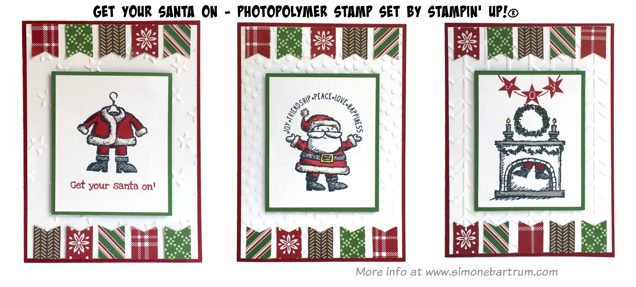 Get Your Santa On - Christmas cards (www.simonebartrum.com)