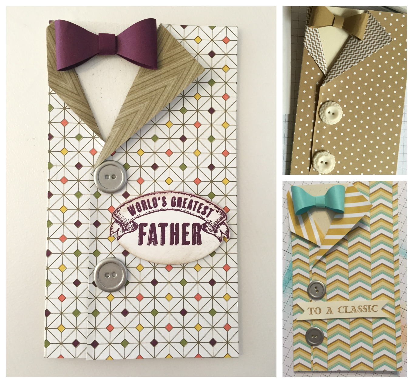 Male Shirt Cards - Homemade cards by Simone Bartrum