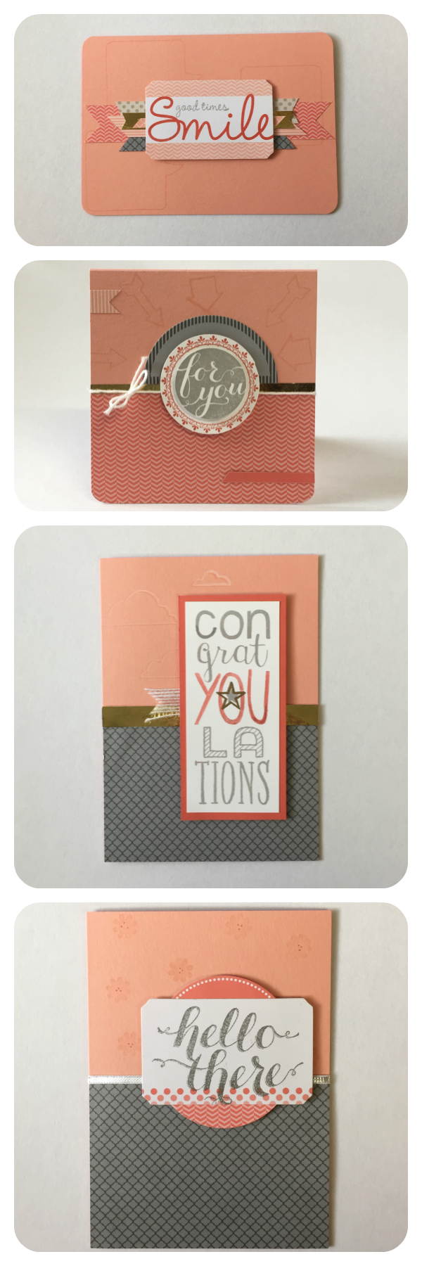 Handmade cards created with Stampin' Up!'s Calypso Coral Celebration Add-On Kit (#133431) on available while supplies lastAdd-OnKitCards