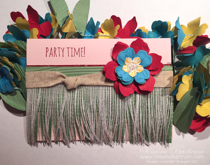 Stampin' Up! Grass Skirt Card from www.simonebartrum.com