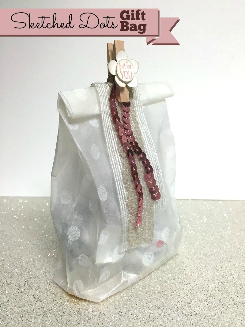 Sketched Dot Gift Bag - Join us for the blog hop at www.simonebartrum.com