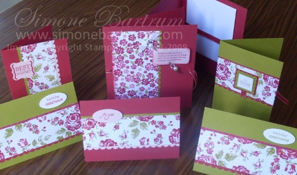 Bella Rose Card Gift Set from the Mothers Day Class
