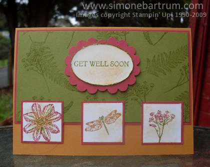 Organic Grace 'Get Well' card