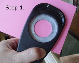 "Punch a 1 3/8"" circle from your cardstock"